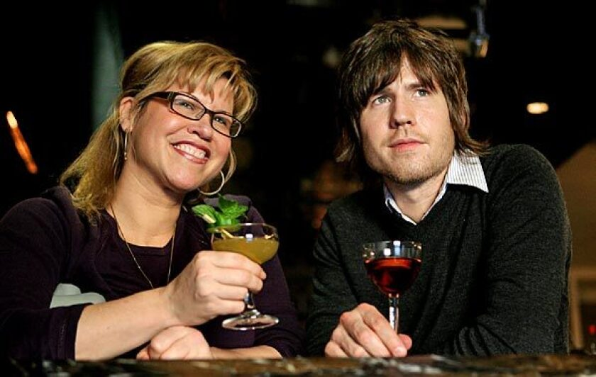 Tar Pit's co-owner/bartender Audrey Saunders, with executive staff member Chad Solomon, has four sherry cocktails on her menu of about 20 drinks.