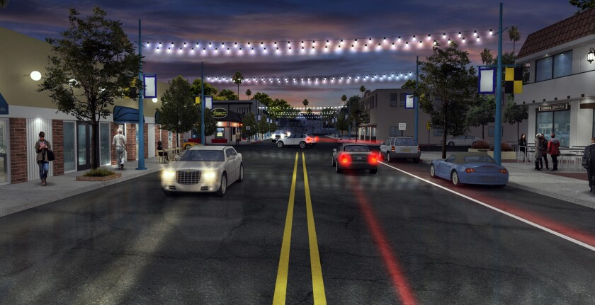 A rendering depicts the Village Anchor Lights project in Point Loma.