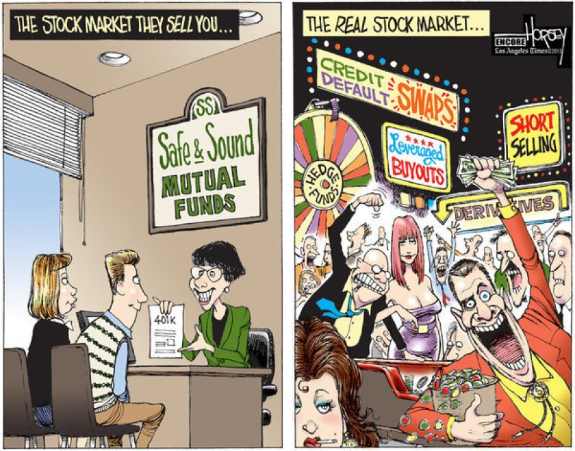 Since this Horsey cartoon appeared in 2009, not much has changed in the way Wall Street's high rollers do business.