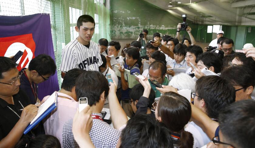 Baseball: Highly touted Japanese high school pitcher