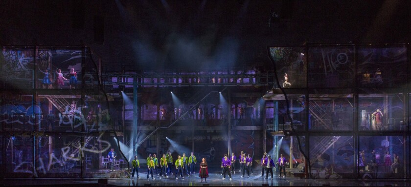 """Ceciia Bartoli as Maria with the Jets and Sharks in the Salzburg Festival production of """"West Side Story."""""""