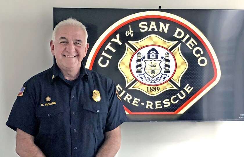 San Diego Fire-Rescue Department Battalion Chief David Picone.