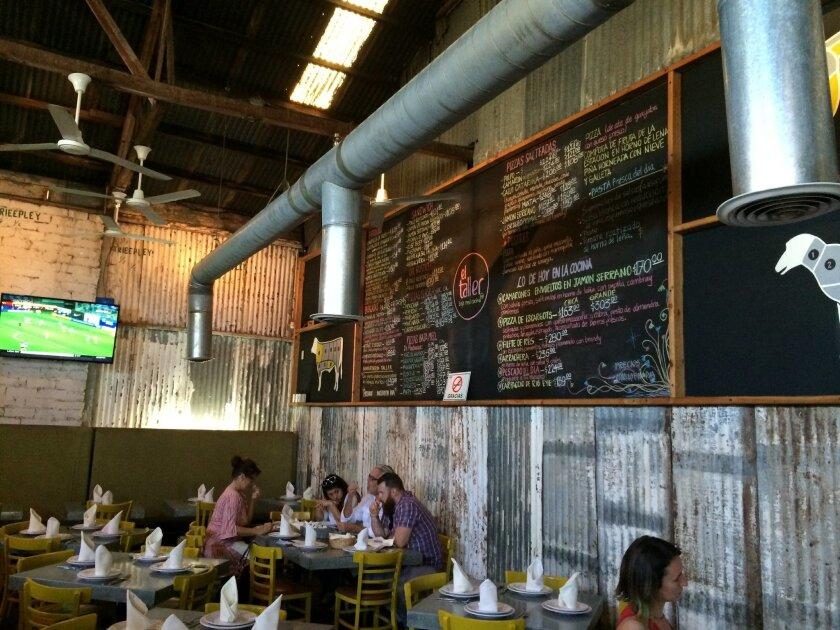 Tijuana's new taste: The rustic chic interior of El Taller Baja Med Cocina.
