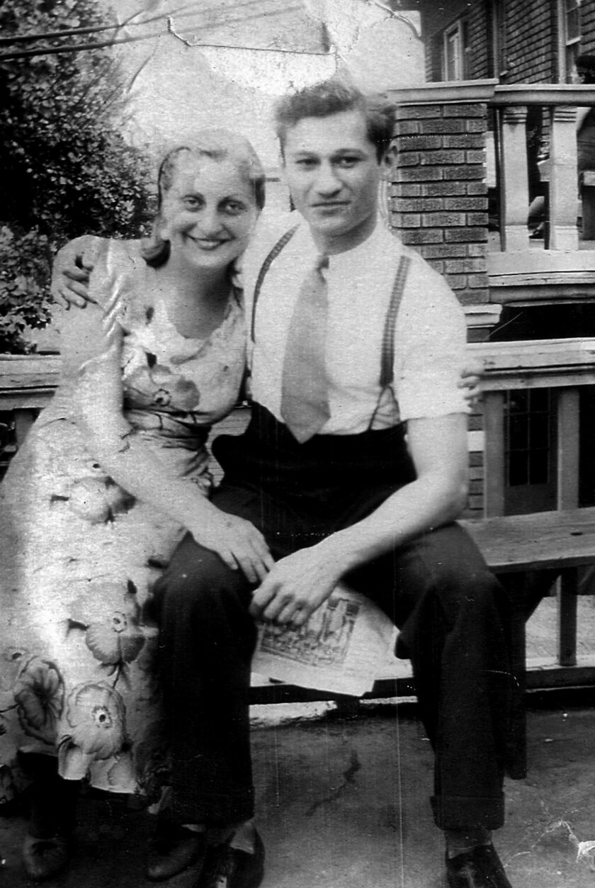 Wedding portrait of Blanche and Sam Weiss taken in New York in the 1934.  Credit: Sam and Blanche Weiss