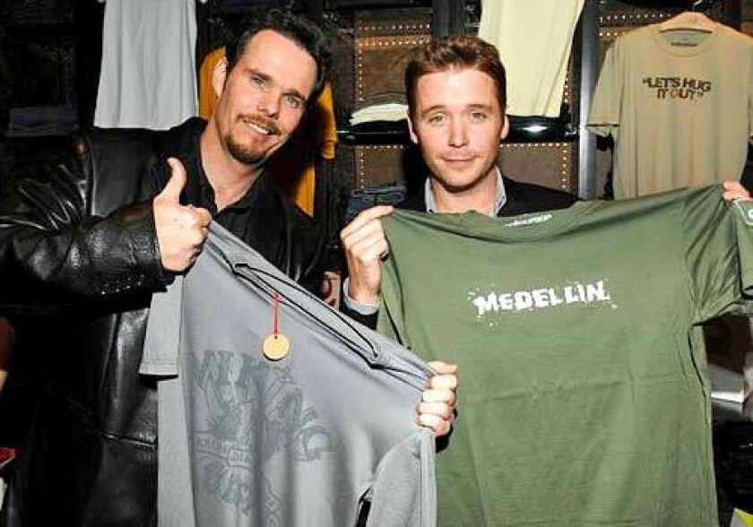 Kevin Dillon and Kevin Connolly GQ at AG Jeans.