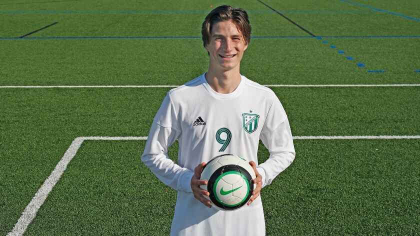 Edison High's Jack Morrell is the Daily Pilot High School Male Athlete of the Week. He scored three