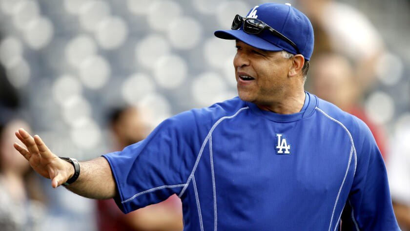 Manager Dave Roberts says the Dodgers asked for permission to mark the field using a rangefinder, but the Mets disagree.