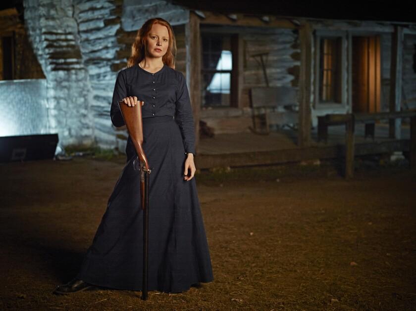 Lauren Ambrose stars as Belle Barlowe, whose husband is off at war as guests arrive on her land.