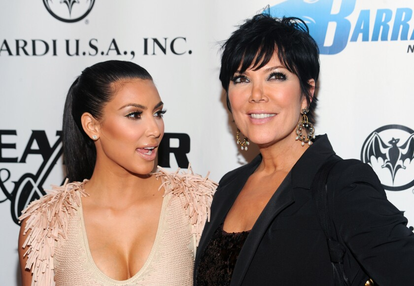 Kim Kardashian, left, and her mother, Kris Jenner, in 2010.