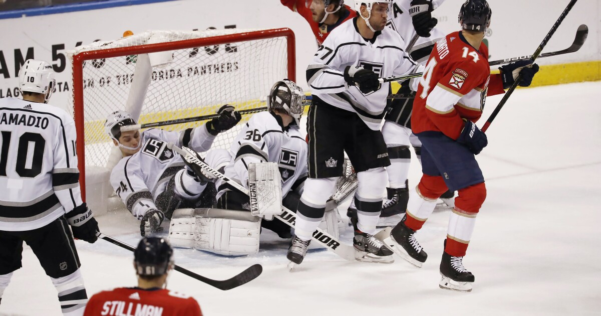 Kings rally falls short in loss to Panthers 4-3