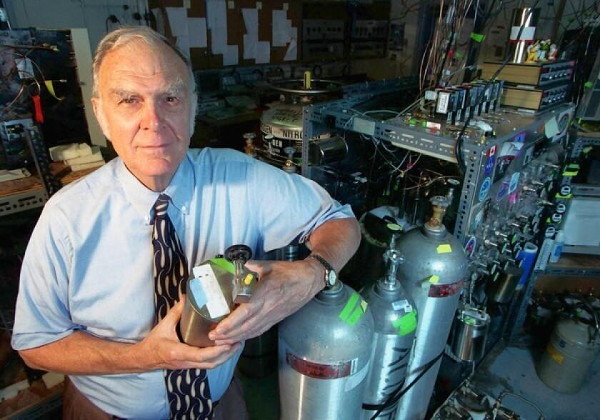 UC Irvine professor F. Sherwood Rowland warned the world that man-made chemicals could erode the ozone layer. His work resulted in an international treaty banning chlorofluorocarbons in 1987. Rowland and two others shared the Nobel Prize in chemistry in 1995. He was 84. Full obituary Notable deaths of 2011