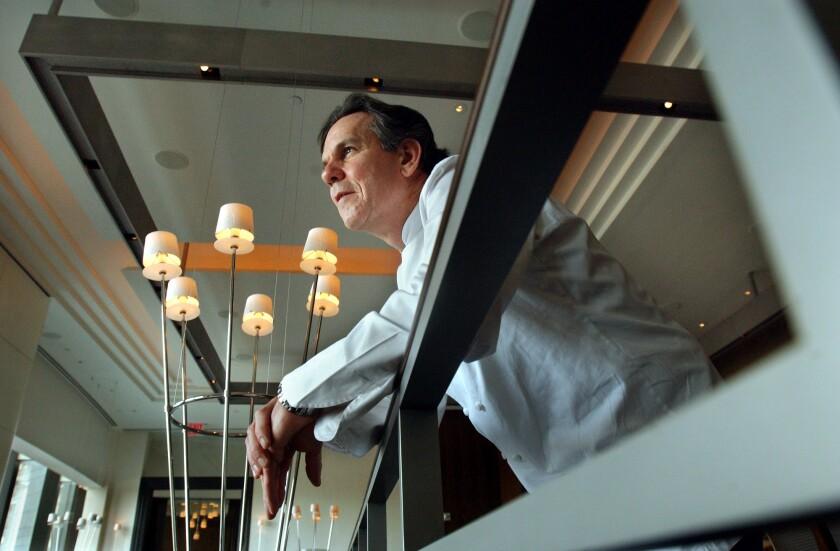 Chef Thomas Keller at his restaurant Per Se in the Time Warner Center in Manhattan.