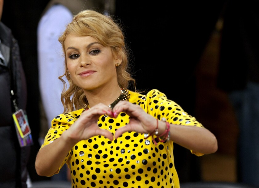 """Paulina Rubio, seen last year, has been named one of the vocal coaches for Telemundo's """"La Voz Kids."""""""
