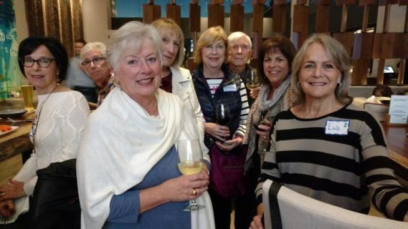 More fun at The Lot with Risa Tartarsky, Michael Clapman, Terry McAnally, Jan Morris, Linda LaCom, Wolfram Forster, Linda Karelis and Eva Shor