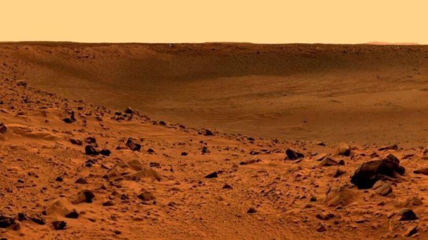 Aunque la superficie de Marte es árida e inhóspita, hace miles de millones de años estaba cubierta, probablemente, de tanta agua como la que abunda hoy en nuestro planeta.