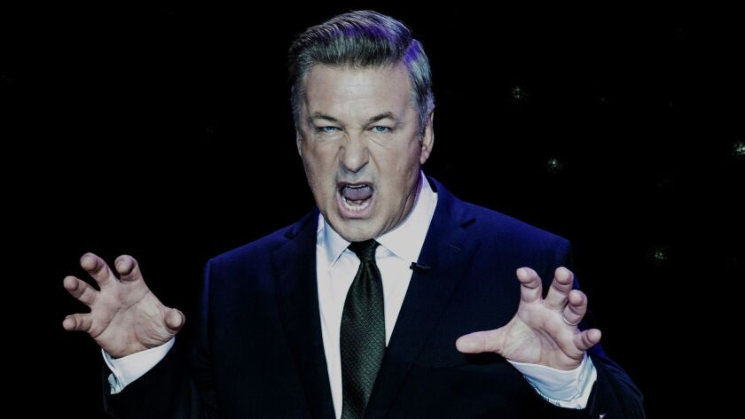 """NEW YORK, NY. June 11, 2019--Actor Alec Baldwin on the set of his ABC show """"Match Game"""" for The Sund"""