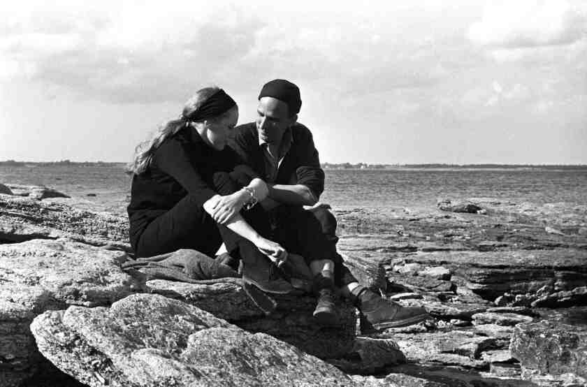 "Liv Ullmann and Ingmar Bergman during the filming of ""Persona,"" from ""Liv and Ingmar."""