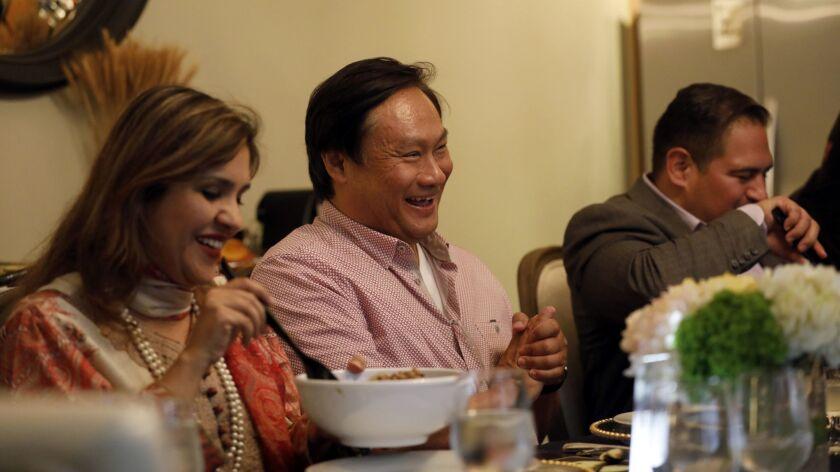 LOS ANGELES, CA APRIL 18, 2018: Dr. Amna Qazi, (left-right), Tom Chang, Ernesto Hidalgo, and Veron