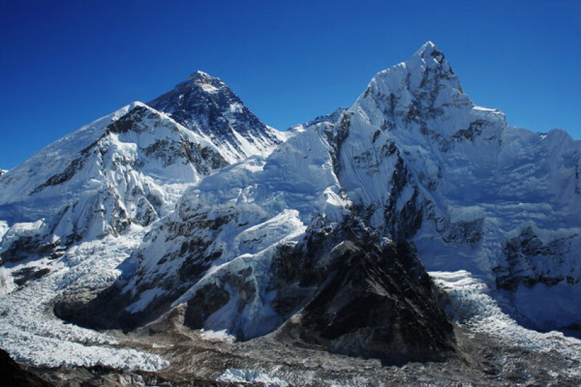 Glaciers have been in retreat at Mount Everest, a study has found