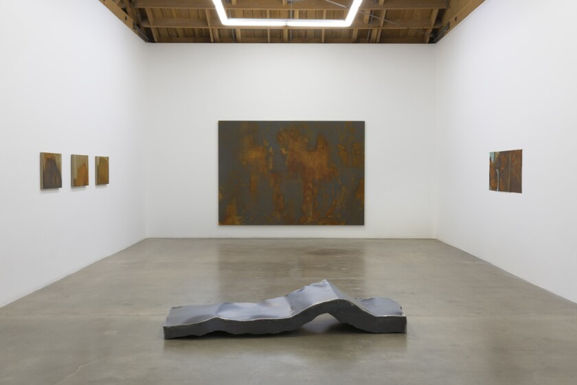 At Susan Vielmetter Los Angeles Projects, an exhibition by L.A. artist Ruben Ochoa revels in the decay of the industrial.