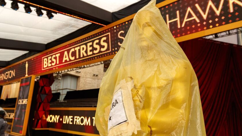 As we wait for the 2018 Academy Awards broadcast, Oscar isn't the only thing that's under wraps. The Oscars air Sunday, March 2, at 5 p.m. on ABC.