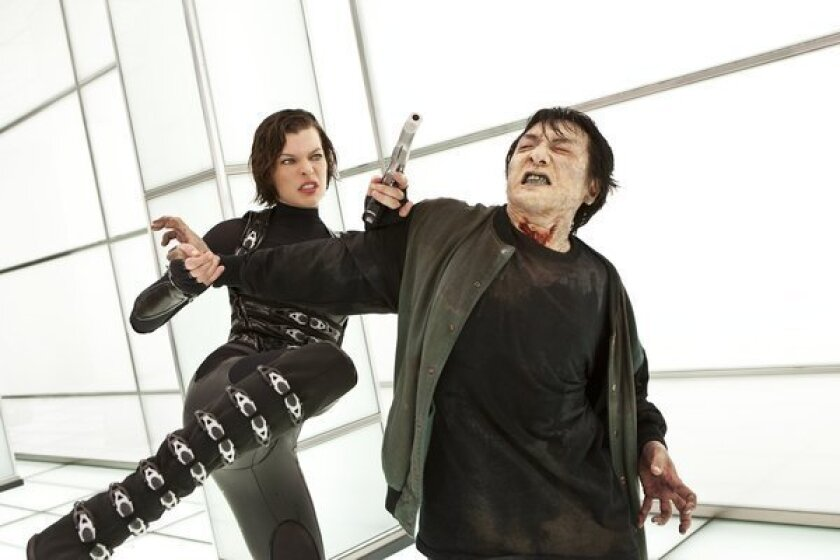 Review A Dreary Resident Evil Retribution Los Angeles Times