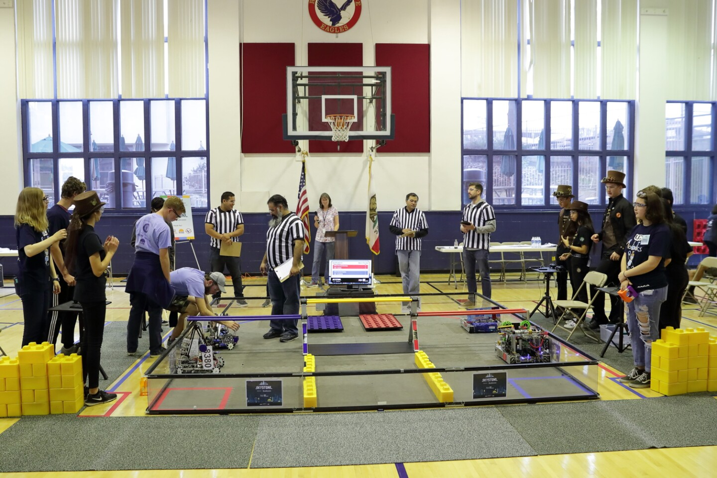 Competition at the FIRST Tech Challenge Robotics event