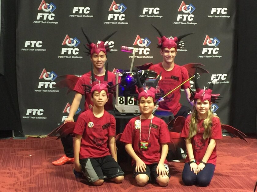 The members of the RSF Intergalatic Dragons team are headed to the World Championship. Courtesy photo