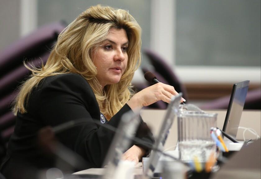 Nevada Assemblywoman Michele Fiore at the Legislative Building in Carson City, Nev., in 2013.