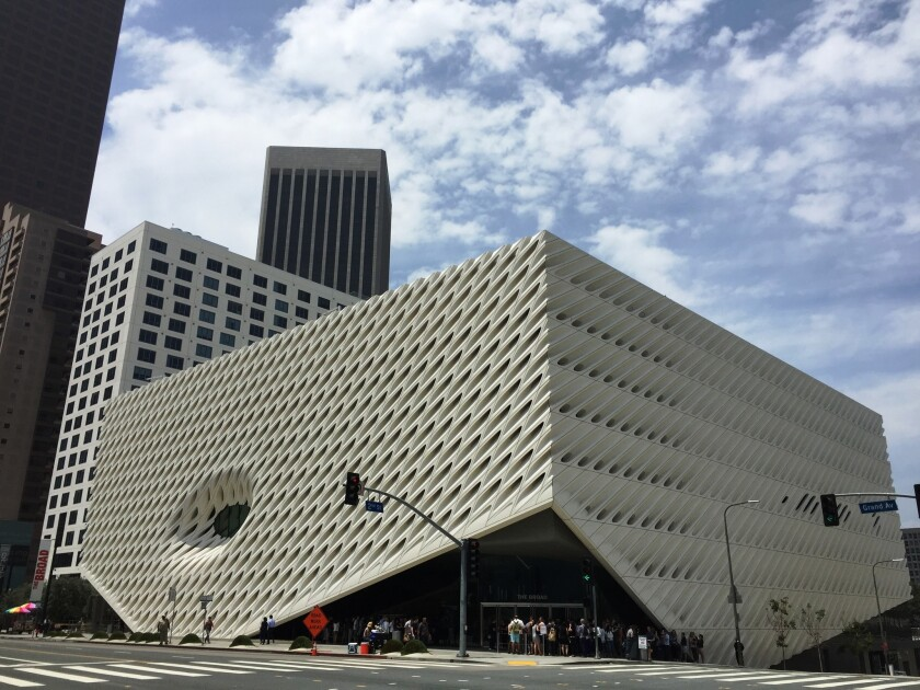 A view of the Broad museum in 2017.