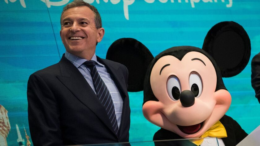 Walt Disney Chairman And CEO Bob Iger Rings Opening Bell At NY Stock Exchange