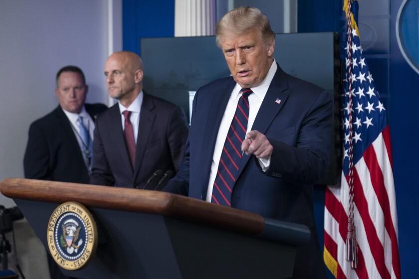 President Trump and FDA Commissioner Stephen Hahn