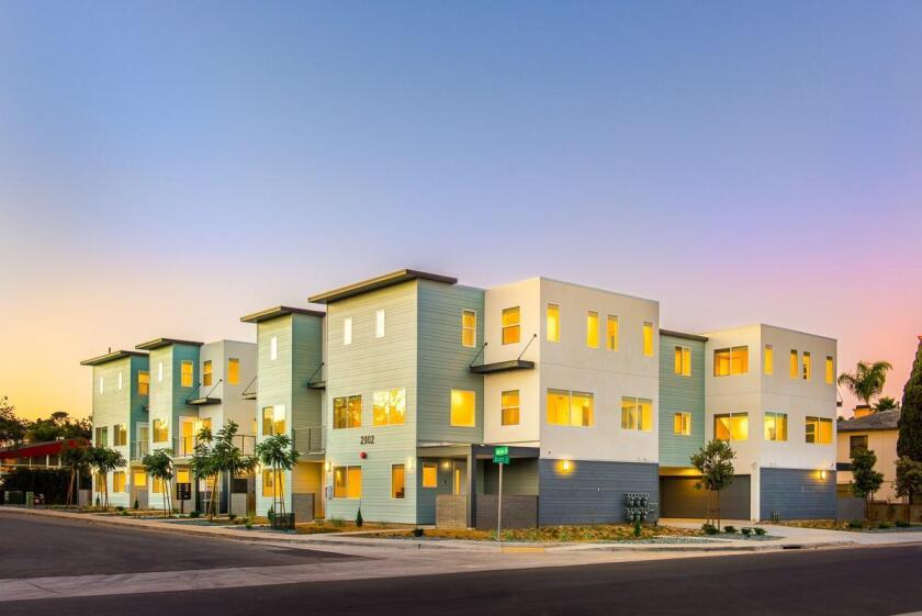 One of Murfey Company's latest projects, Blue Point Townhomes, in Point Loma. Murfey Company is at 2050 Hancock St., Suite B, San Diego. (858) 459-6865. murfeycompany.com