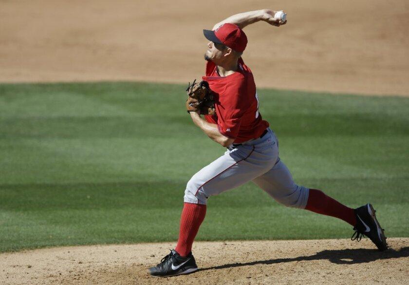 Joe Blanton went 2-14 with a 6.04 earned-run average for the Angels last season.