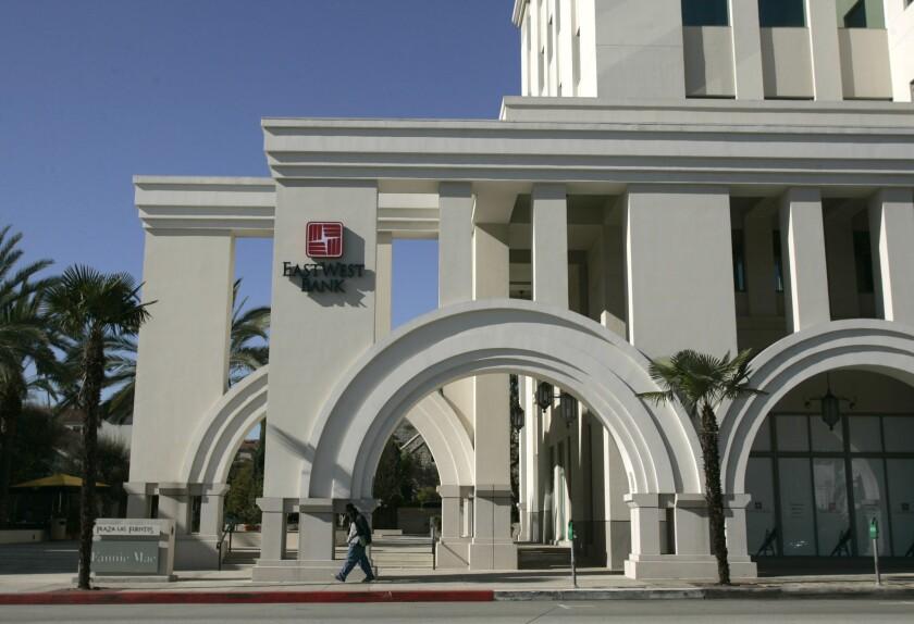 East West Bank headquarters in Pasadena.
