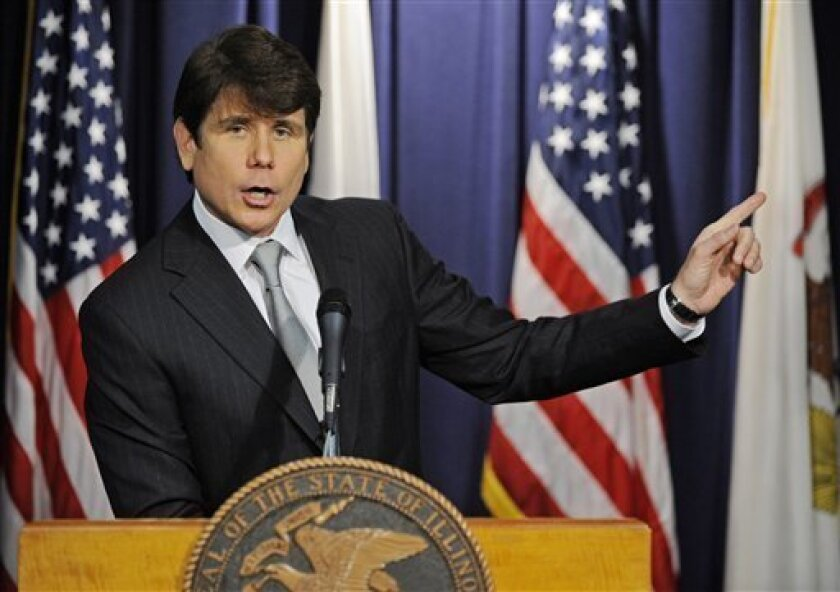 Illinois Gov. Rod Blagojevich makes a statement at a news conference Friday, Jan. 9, 2009 in Chicago, after he was impeached by the Illinois House on a wide array of offenses including criminal corruption and wasting taxpayers money. The two-term Democrat becomes the first governor in the history o