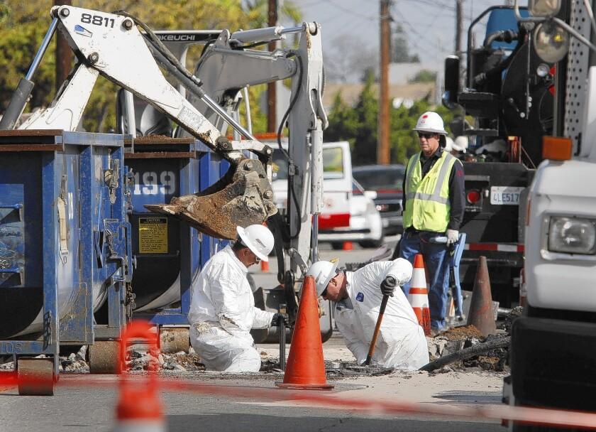 Crews clean up oil spill