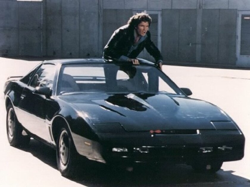 A shot from the 1980's hit with David Hasselhoff and his trusty talking car
