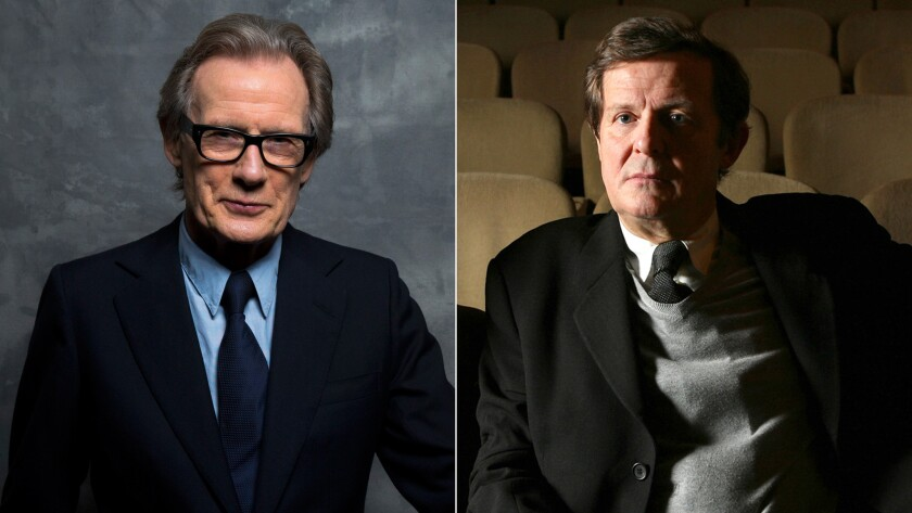 """Bill Nighy, left, and David Hare have collaborated on numerous stage and screen projects, including the recent London revival of Hare's play """"Skylight."""""""