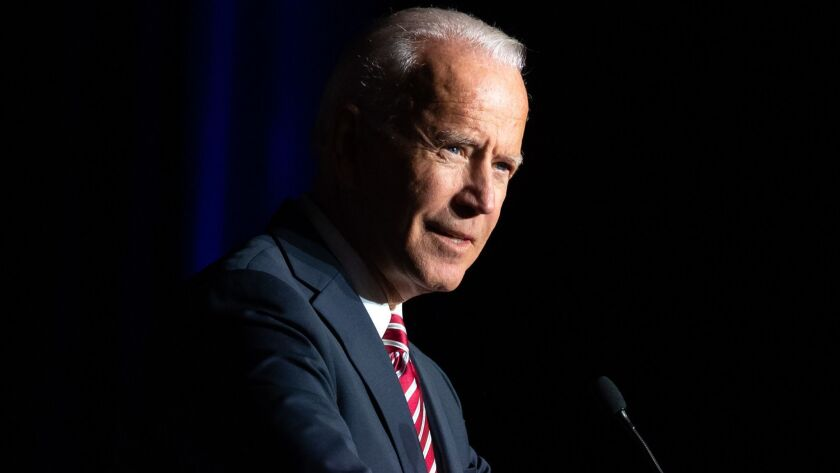 Former Vice President Joe Biden says he raised $6.3 million on the first day of his campaign.