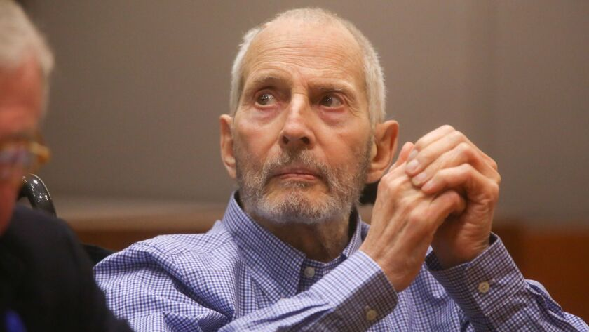 New York real estate scion Robert Durst, shown at an earlier hearing, appeared in court in Los Angeles to hear more testimony in his murder case.