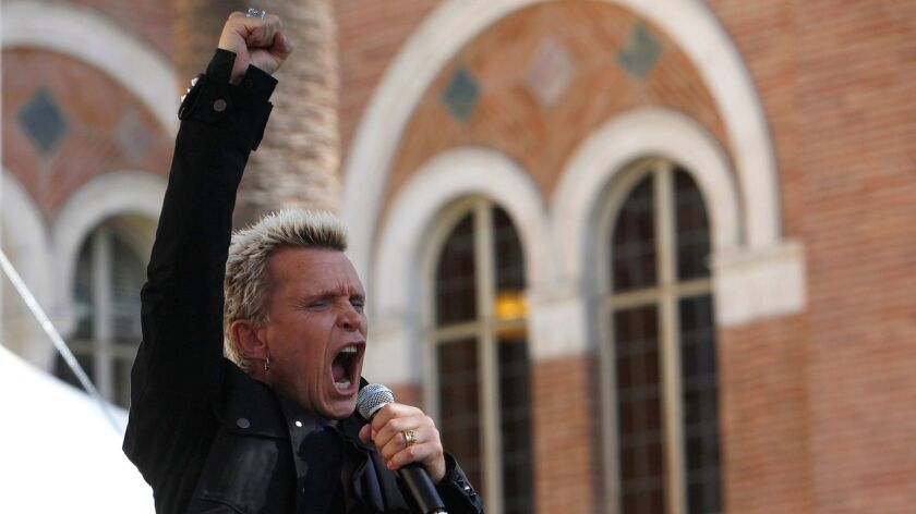 Billy Idol will perform at the House of Blues in Las Vegas in October.