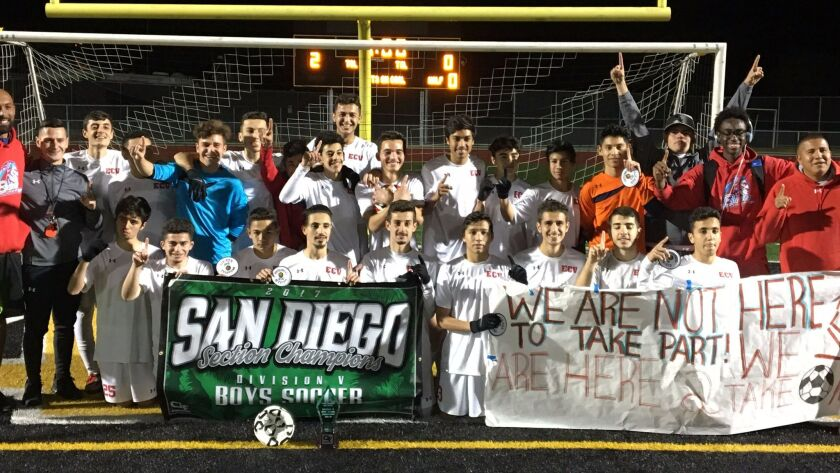 El Cajon Valley cheers its San Diego Section title last week, The Braves topped that this week with a SoCal Regional crown.