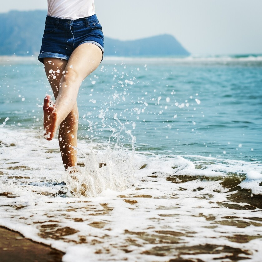 picioare varicose beach
