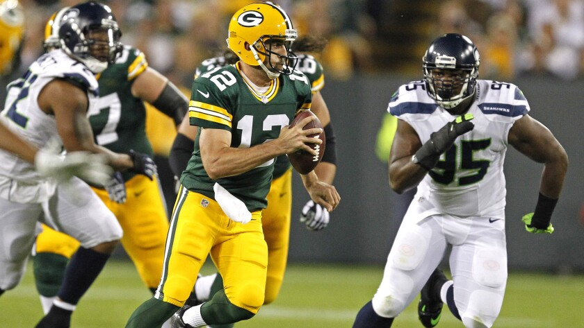 His ability to scramble is what separates Green Bay's Aaron Rodgers from other elite passing quarterbacks in the NFL.