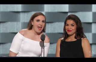 Watch actresses Lena Dunham and America Ferrera speak at the Democratic National Convention