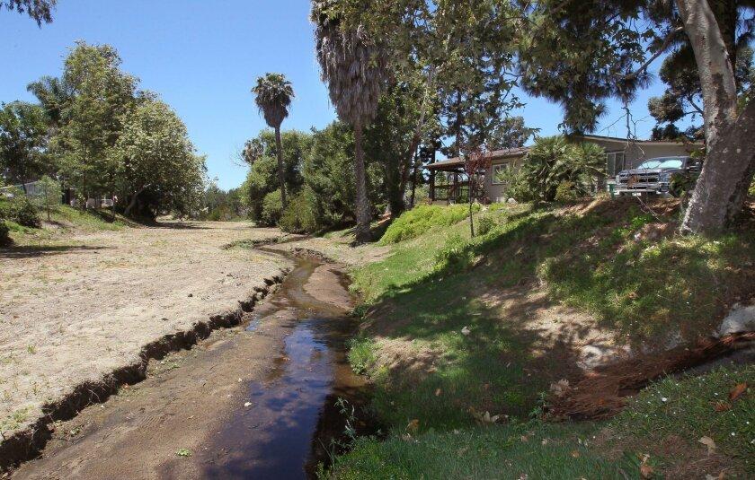 The Agua Hedionda Creek passes through the Rancho Carlsbad mobile home park.