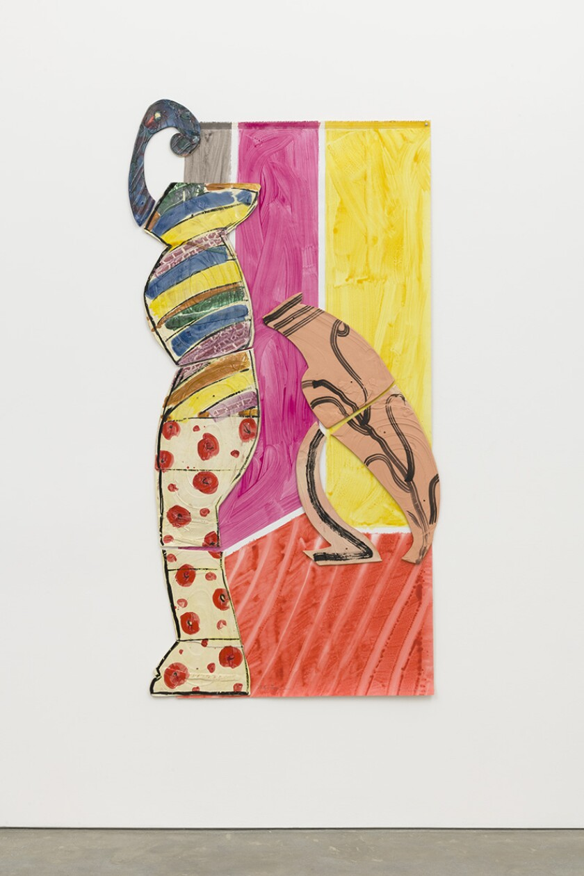 """Betty Woodman """"Lady and Leaning Vase"""""""