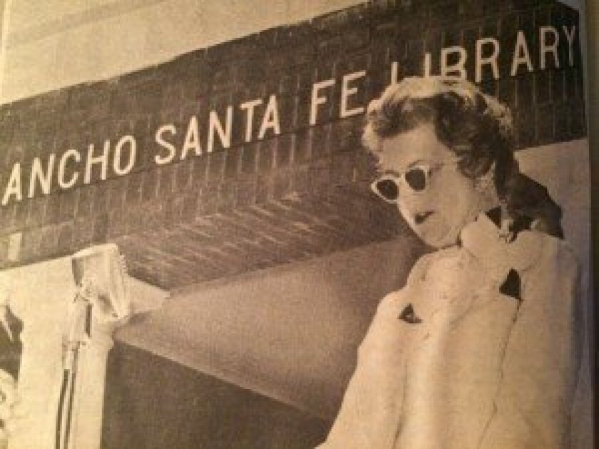 The first RSF Library Guild President Helen Weddell at the current library building opening in 1968.
