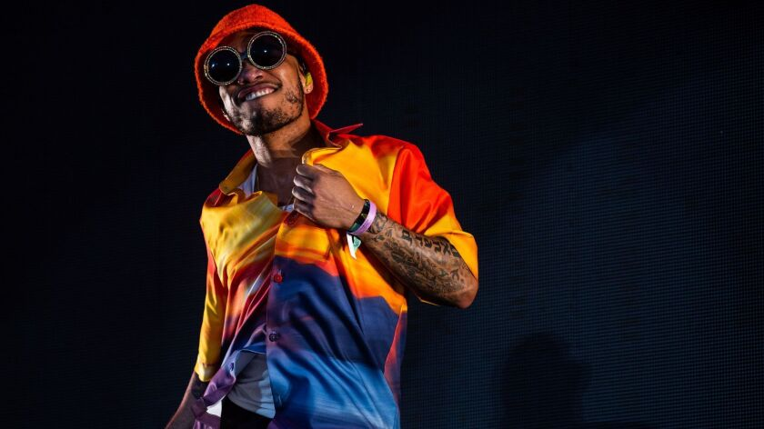 INDIO, CALIF. - APRIL 19: Anderson .Paak performs at the Coachella Stage during Weekend 2 of the Coa